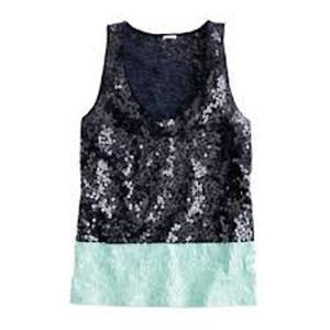 Jcrew Color-blocked Sequin Tank Small